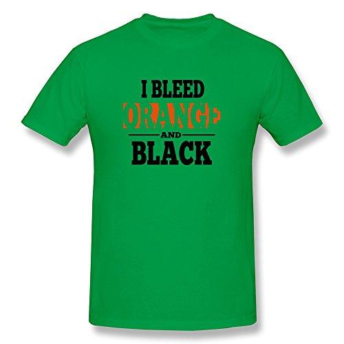 Bleed Orange Black Men'S Colors Tee Shirts