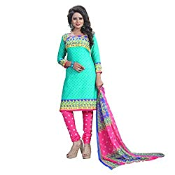 Shree Hari Creation Women's Poly Cotton Unstitched Dress Material (250_Multi-Coloured_Free Size)