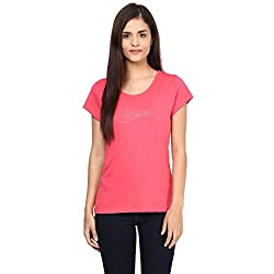 Candies by Pantaloons Women's Cotton T-Shirt (205000005554364_Blossom Pink_S)