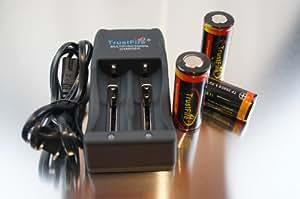 TrustFire TR-006 充電器+TrustFire 26650 5000mAh ×3本セット