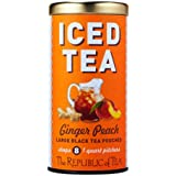 The Republic Of Tea Ginger Peach Black Iced Tea, 8 Large Pouches / 8 Quarts