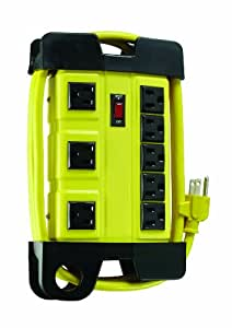 Coleman Cable 04655 8-Outlet Heavy-Duty Power Center Strip with 6-Feet Cord