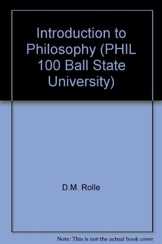 Introduction to Philosophy (PHIL 100 Ball State University)