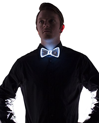White Light Up Bow Tie (White)
