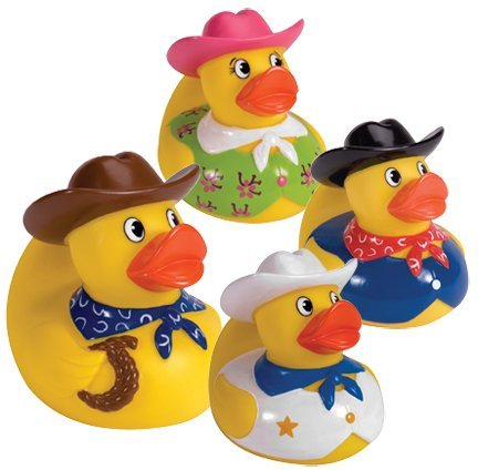 Cowboy Rubber Duck (Only One Included)