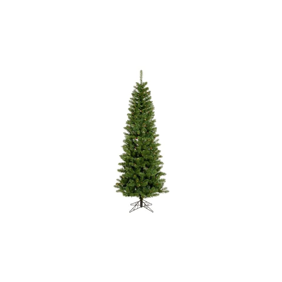 9.5 x 44 Salem Pencil Pine Christmas Tree w/ 1171T 495 LED Frosted Multi color Lights