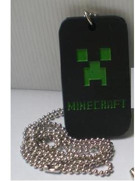 Minecraft Black Dogtag Ball Chain Necklace from CHI