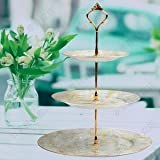10 Sets 3 Tier Cake Plate Stand Handle Fittings Gold for Tea Shop Room Hotel