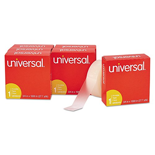 universal-invisible-tape-3-4-x-1000-inches-1-inch-core-clear-6-pack-unv83410