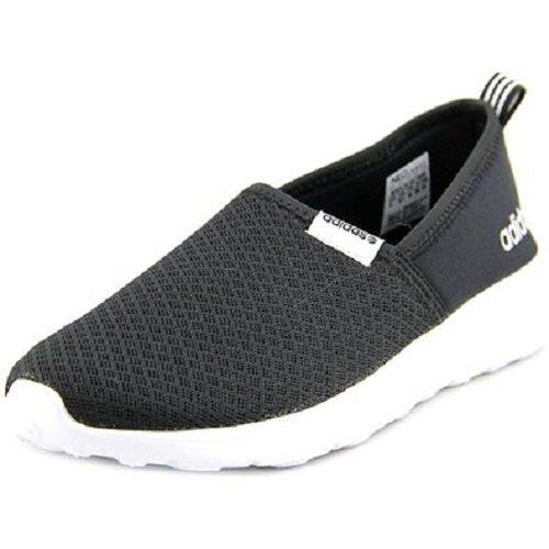 Adidas NEO Women's Lite Racer Slip On W Casual Sneaker,Black/Black/White,9.5 M US