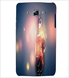 PrintDhaba Stylish Girl D-4456 Back Case Cover for SAMSUNG GALAXY J5 (Multi-Coloured)