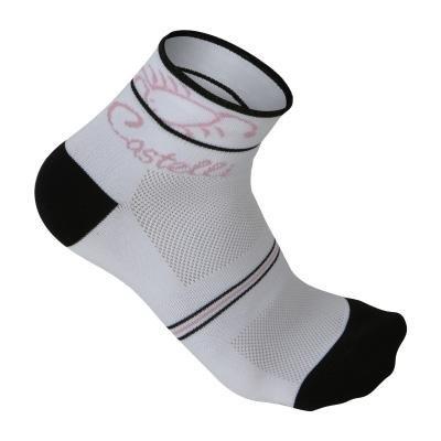 Buy Low Price Castelli 2009 Sole Cycling Sock – white/black/pink – R9033-001 (B0029QITUQ)