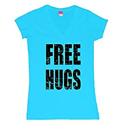 Free Hugs Juniors V-Neck T-Shirt
