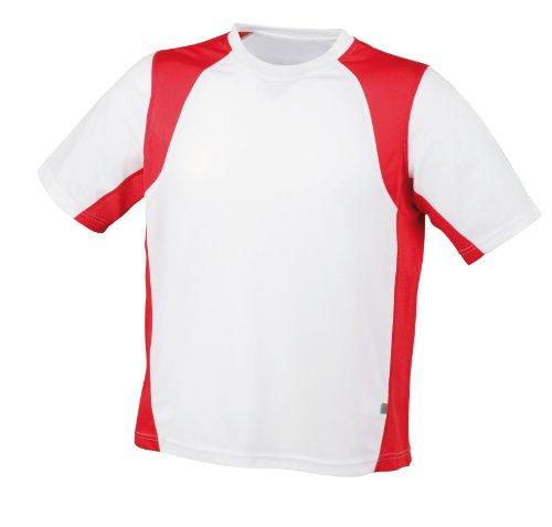 James & Nicholson Men's Shirt Running T - White, S