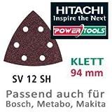 Hitachi Schleifpapier SP f. Klett Deltaschleifer 94mm K150