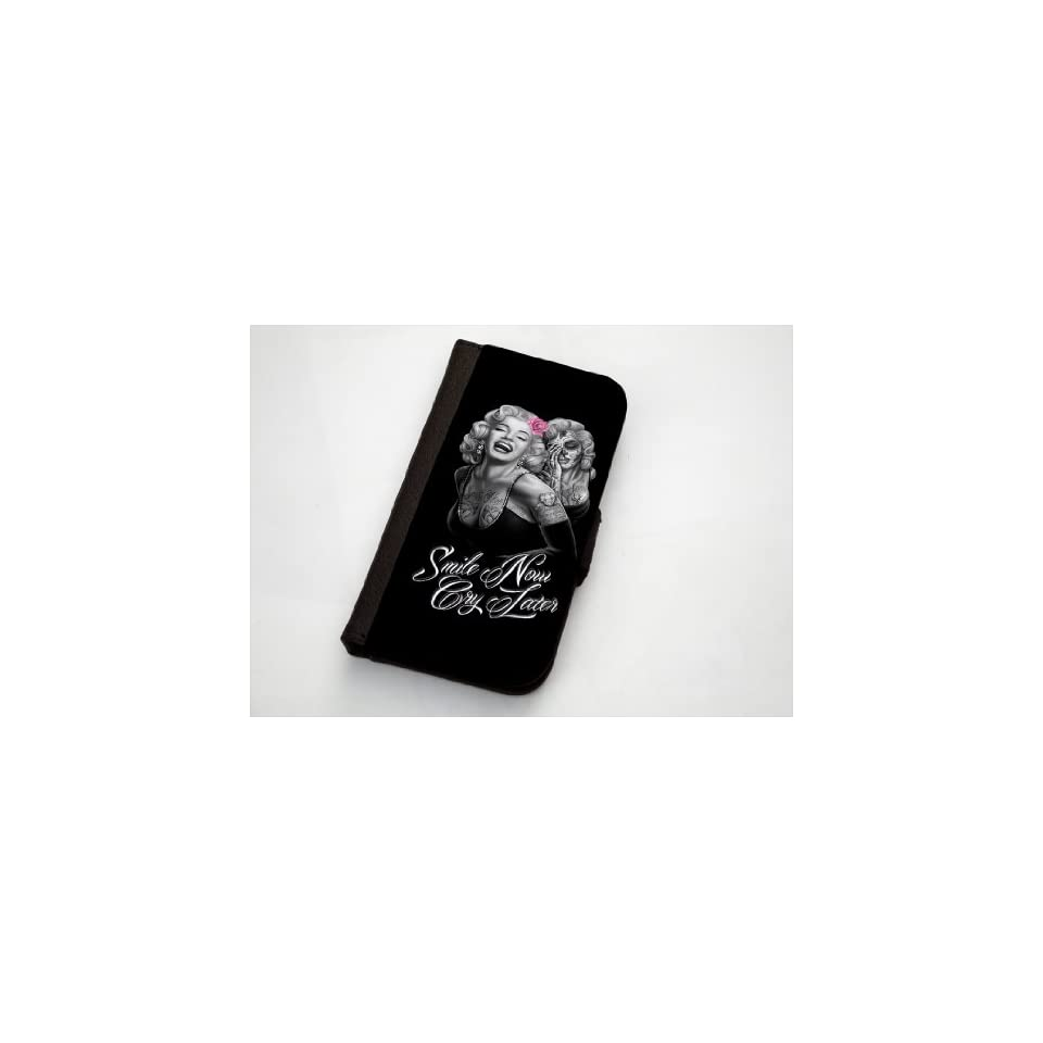 Marilyn Monroe And Her Ghost Smile Now, Cry Later Samsung Galaxy S3 Leather Wallet Case By Little Brick Press