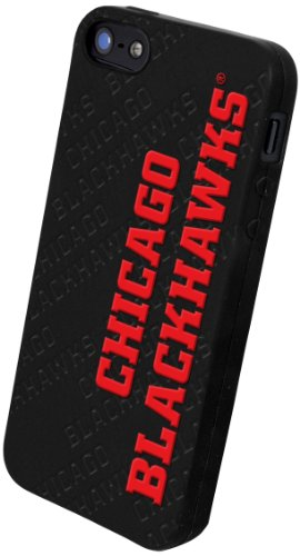 Special Sale Forever Collectibles IPHNNHSILTM5CBH Team Silicone Cover for iPhone 5 - Retail Packaging - Chicago Blackhawks