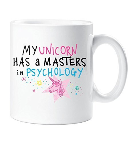 My unicorno è un Masters In Psicologia Tazza Funny Friend Birthday regalo di Natale