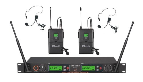Gtd Audio G-733L 2X800 Channel Diversity Uhf Wireless Microphone Mic System