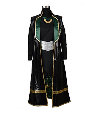 [RedstarCosplay The Dark World Loki Battleframe Cosplay Costume Female Style - Custom-made] (Loki Costume)