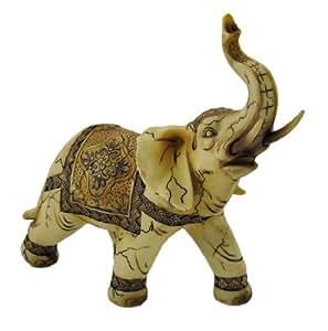 Antique ivory look decorative elephant statue home kitchen - Statue decorative d interieur ...