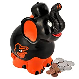 Baltimore Orioles MLB Thematic Elephant Coin Bank