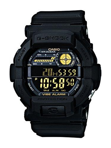 Casio GD-350-1BER - Reloj digital de cuarzo para hombre con correa de resina, color negro