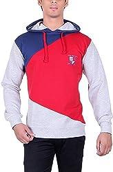 RGT Men's Fleece Regular Fit Sweatshirts (RGT7009GREY-L)