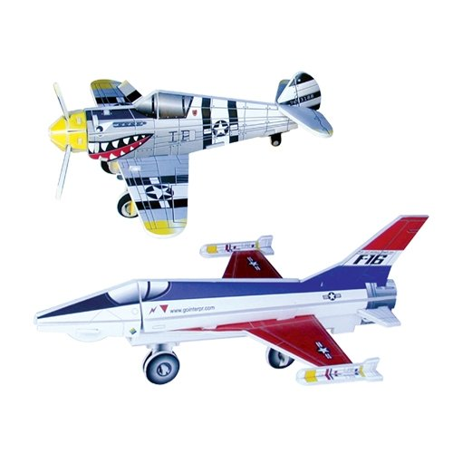 Jigsaw 3D Puzzle - F16 Fighting Falcon/ P-40E Warhawk