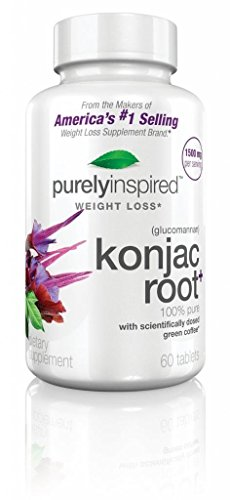 Purely Inspired Glucomannan- Konjac Root Weight Loss Supplement, Bogo, 1300Mg, 60 Tablets (Includes Green Coffee Bean Extract), Special Buy One, Get One Free, 120 Count Total