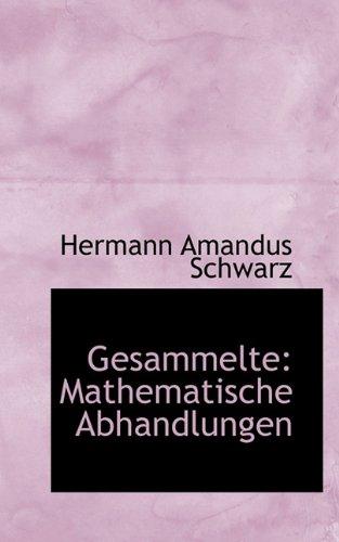 Gesammelte: Mathematische Abhandlungen