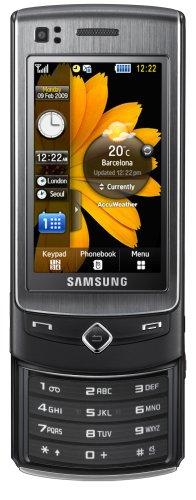 Samsung S8300 UltraTOUCH (2.8'' Touchscreen AMOLED, 8 MP-Kamera, UMTS/HSDPA) noble black Handy