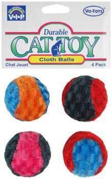 Votoy Cloth Cat Balls 4pack