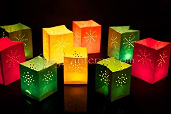 Ornamental Weather are proud to present the 12 x Mini Coloured Candle Bags