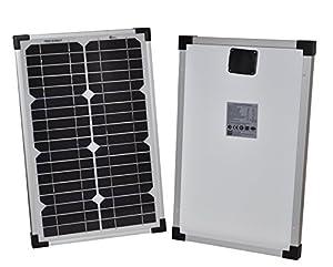 Solarmodul 20Watt Monokristallin Solar Panel Photovoltaik 20W-12V Solarzelle Camping Garten NEU by Enjoy Solar