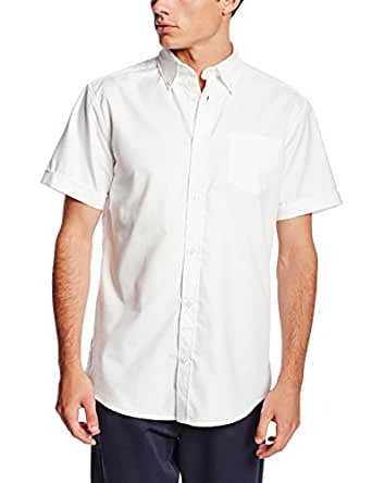 Lee Uniforms Men's Short Sleeve Shirt, White, Small