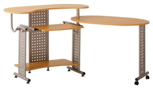 Buy Low Price Comfortable Status Space Saver Computer Desk, Oak (B003BYR29Y)