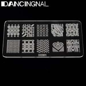 DANCINGNAIL Acrylic Nail Art Image Stamp Printing Stamping Plate Template DIY Tool