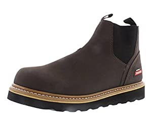 Dickies GD6112 Ned PT Slip On Work Boots, Chocolate/Black, 7.5 M US
