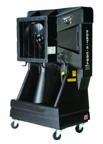 Port-A-Cool PAC163SVT 16-Inch Portable Evaporative Cooling Unit with Vertical Tank, 3900 CFM, 900 Square Foot Cooling Capacity, 3-Speed, Black