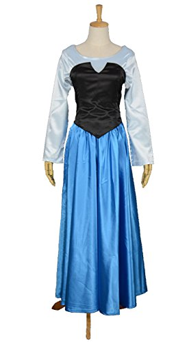 [RedstarCosplay The daughter of the Sea Mermaid Princess Ariel Costume Cosplay - Female XL] (Ariel Dress For Adults)