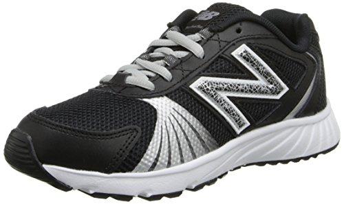 New Balance KJ555 Youth Lace Up Running Shoe (Little Kid/Big Kid), Black/White, 2.5 M US Little Kid
