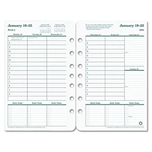 Original Dated Weekly/Monthly Planner Refill, Jan.-Dec., 5-1/2 x 8-1/2, 2013 by FRANKLIN COVEY (Catalog Category: Calendars, Planners & Briefcases / Organizers)