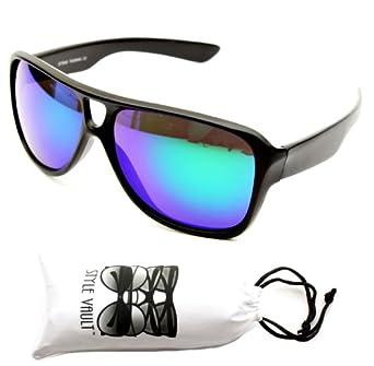 A97-vp Style Vault Turbo Sunglasses (046RV Black-Greenish Purple, mirrored)