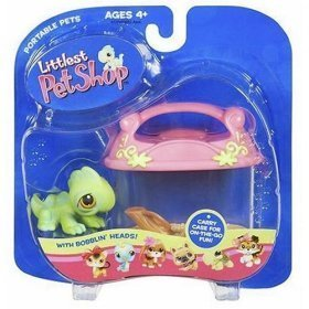 Littlest Pet Shop Pets On The Go Figure Iguana with Carry Case - 1