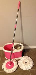 2014 -Pink Magic 360 Spin Mop NEW! - Stainless heavy duty basket customers choice of handle press or pedal to spin (BOTH OPTIONS)Completely redesigned and updated for better wear and convenience. Available Now!