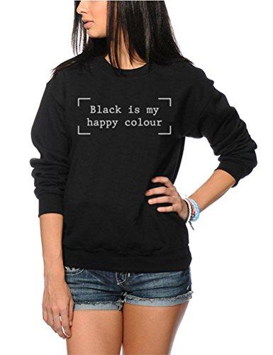 Nero È My Happy colore moda Hipster Moody Kids-Felpa
