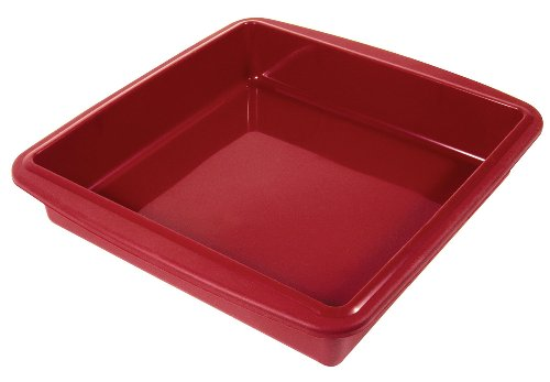 Silicone Solutions 9 x  9 Inch Square Cake Pan, Burgundy