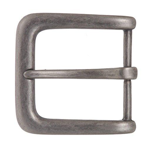 """beltiscool da uomo 11/2""""(38mm), fibbia della cintura Antique Silver Taglia unica"""