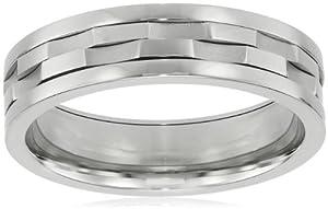 Men's Stainless Steel Spinner Ring, Size 9